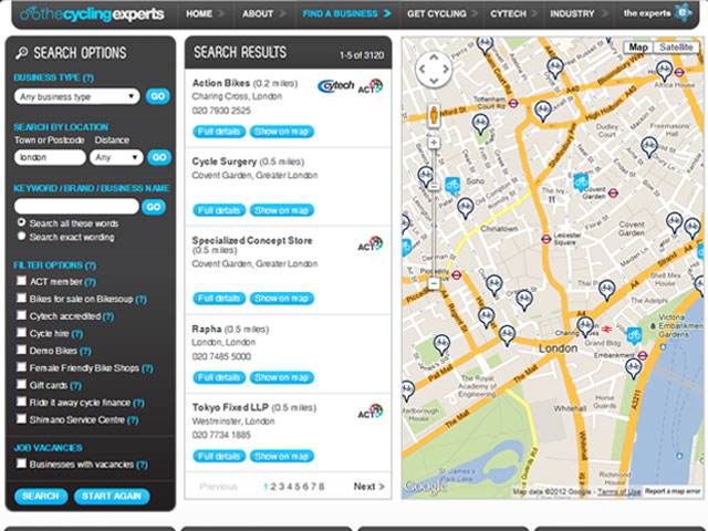 The Cycling Experts business directory