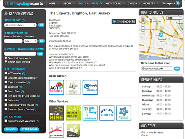 The Experts business listings