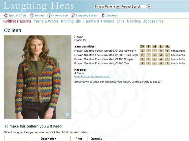 Detailed pattern instructions enabling customers to buy everything they need at once
