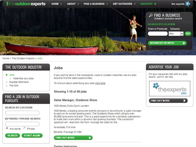 The Outdoor Experts job listings