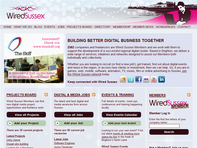 Wired Sussex website